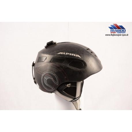 lyžiarska/snowboardová helma ALPINA NUTS 2.0 black/matt, nastaviteľná