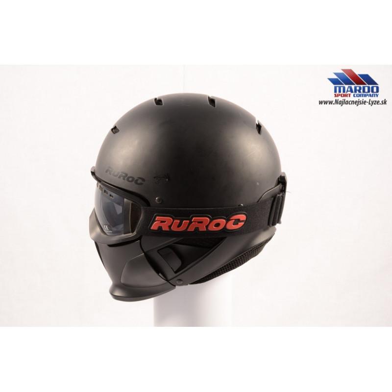 lyžiarska/snowboardová helma RUROC RG-1 DX CORE 2017 black ( NOVÁ )