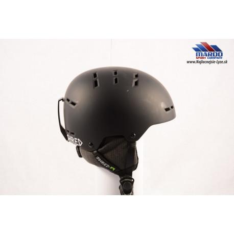 lyziarska/snowboardova helma SHRED BUMPER NOSHOCK black 2018, nastavitelna 51-54, size S (NOVA)