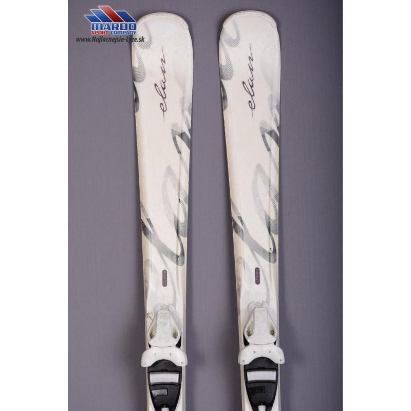 damske lyze ELAN WHITE PERLA 2015 ultra light skiing, early rise rocker + Elan ESP 7.5 white