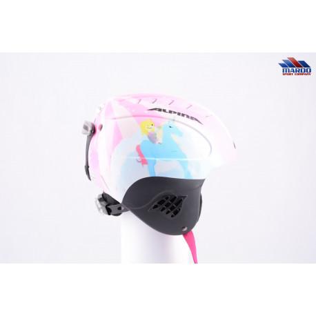 lyžiarska/snowboardová helma ALPINA FLASH white/pink, nastaviteľná