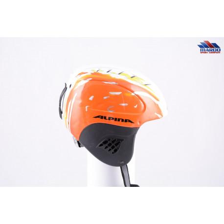 lyžiarska/snowboardová helma ALPINA CARAT TWISTER orange/white, nastaviteľná