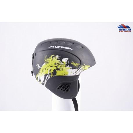 lyžiarska/snowboardová helma ALPINA CARAT LE black/green, nastaviteľná