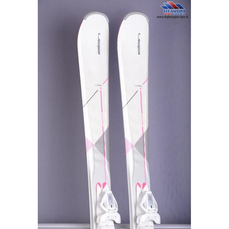damske lyze ELAN ZEST SYSTEM, 2017, Waveflex, LIGHT skiing, parabolic system + Elan ELW9.0 white ( ako NOVE )