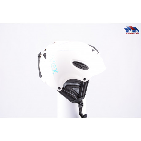 lyžiarska/snowboardová helma UVEX UVISION AIR 2017 white, precistion helmet, nastaviteľná ( TOP stav )