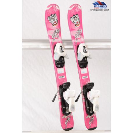 detské/juniorské lyže TECNO pro SKITTY pink + Tecno pro TC 45 ( ako NOVÉ )