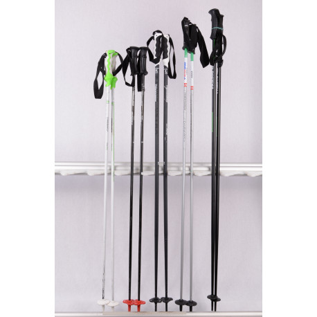 zjazdové lyžiarske palice Mix ( LEKI, KOMPERDELL, SCOTT, BLIZZARD...)