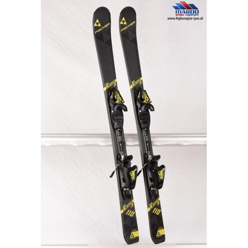 detské/juniorské lyže FISCHER RC4 RACE jr. 2018, Black/yellow + Fischer FJ 4 black