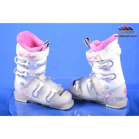 detské/juniorské lyžiarky LANGE STARLETT RSJ 60, WHITE/pink ( TOP stav )