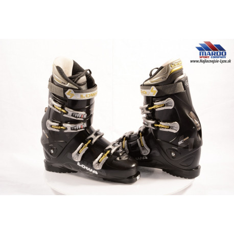 lyziarky LOWA SC 400 black, ANATOMIC FIT, EASY ENTRY, CANTING, SKI/WALK, 4 kovove klips, micro, macro dotahovanie ( uplne NOVE )