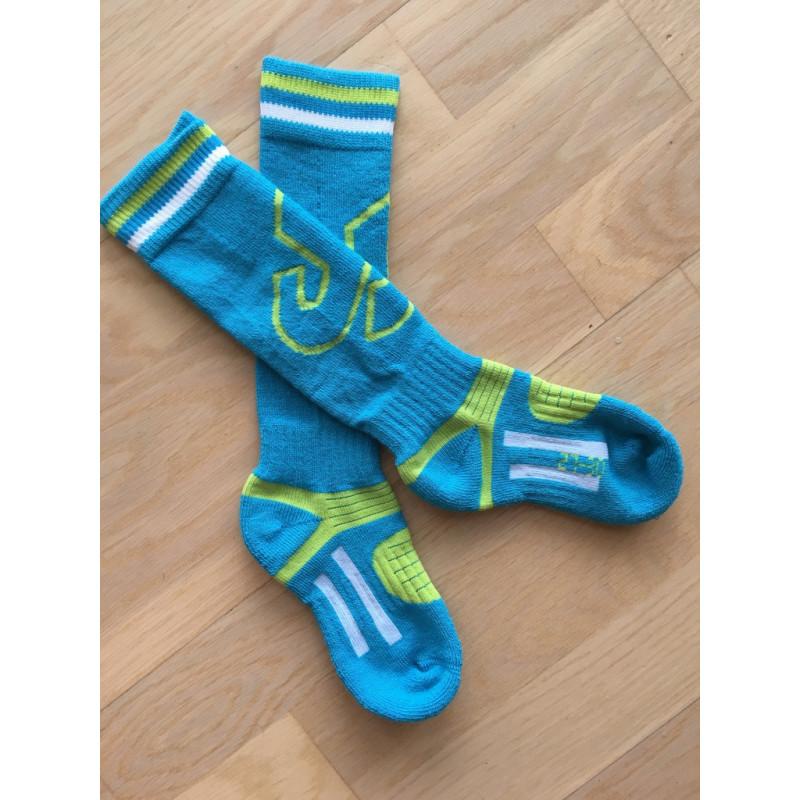 detske lyziarske ponozky SKISET junior, BLUE, merino wool, quick dry