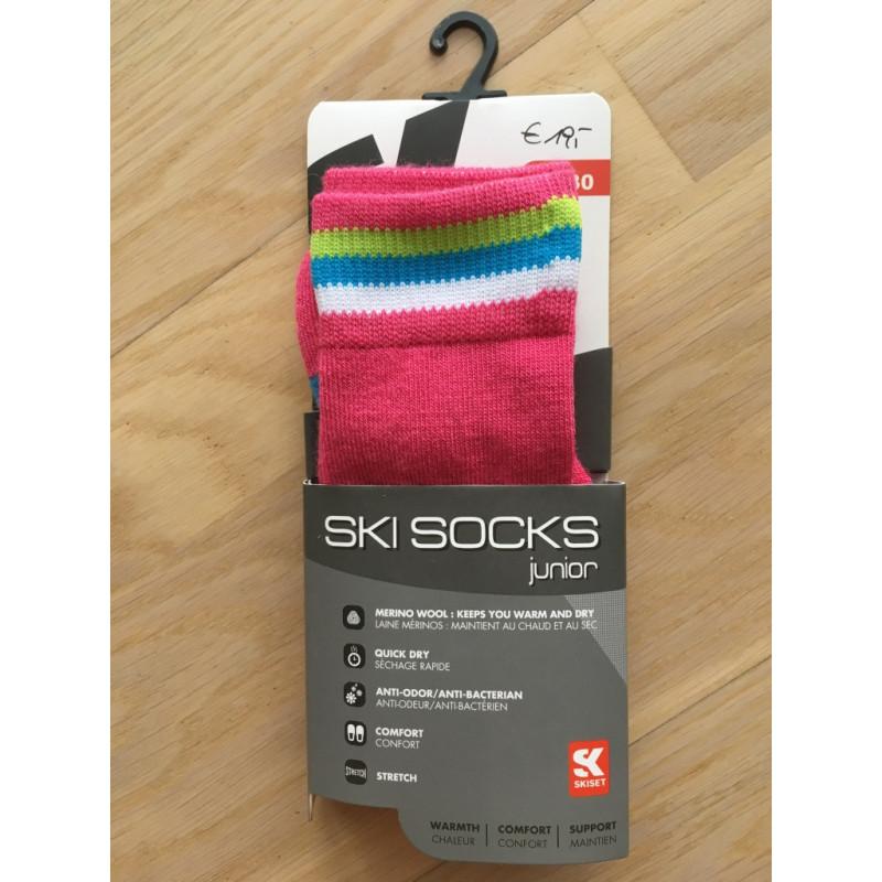 detske lyziarske ponozky SKISET junior, PINK, merino wool, quick dry