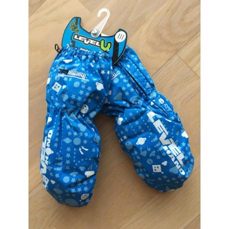 detské lyžiarske rukavice LEVEL kiddy mitt royal, THERMOplus ( NOVÉ )