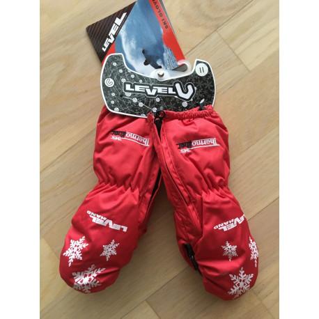 detské lyžiarske rukavice LEVEL kiddy mitt red, THERMOplus ( NOVÉ )