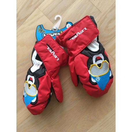 detské lyžiarske rukavice LEVEL animal BEAR, THERMOplus ( NOVÉ )