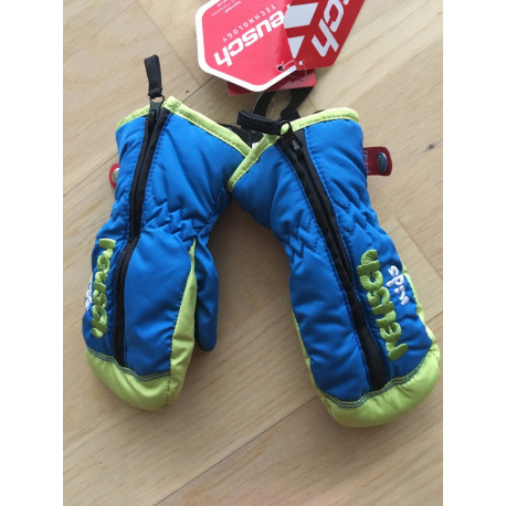 children's ski gloves REUSCH EDGAR, R-LOFT, BLUE/green ( NEW )