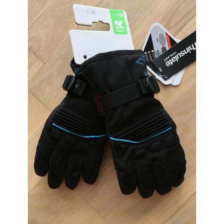 lyžiarske rukavice SKISET thermolite, quickdry, 3M thinsulate, comfort, BLACK/blue ( NOVÉ )