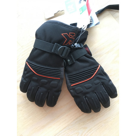 lyžiarske rukavice SKISET thermolite, quickdry, 3M thinsulate, comfort, BLACK/orange ( NOVÉ )