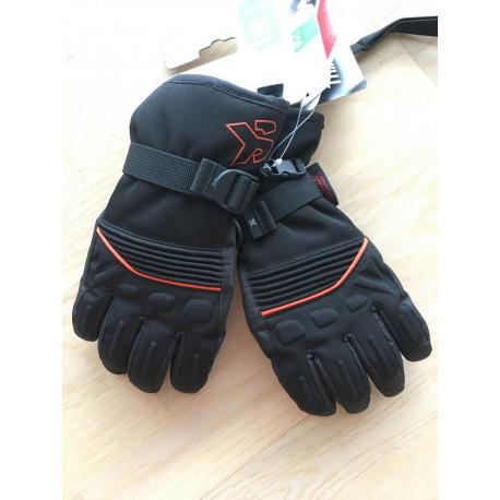 lyžiarske rukavice SKISET thermolite, quickdry, 3M thinsulate, comfort, BLACK/orange ( NOVÉ )