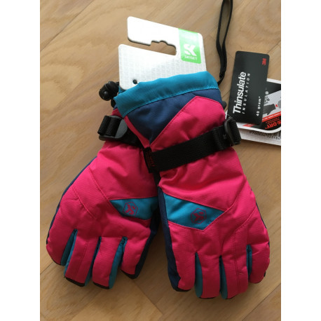 lyžiarske rukavice SKISET thermolite, quickdry, 3M thinsulate, comfort, PINK/blue ( NOVÉ )