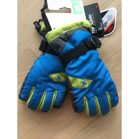 lyžiarske rukavice SKISET thermolite, quickdry, 3M thinsulate, comfort, BLUE/green ( NOVÉ )