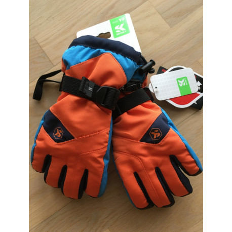 lyžiarske rukavice SKISET thermolite, quickdry, 3M thinsulate, comfort, ORANGE/blue ( NOVÉ )