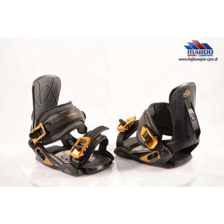 detské snowboardové viazanie ATOMIC AIA BLACK/gold; vel.:S/M/L ( NOVE )