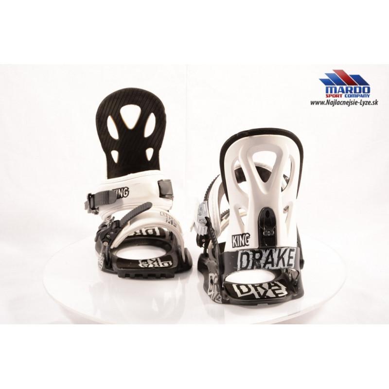 snowboardove viazanie DRAKE KING white/black, vel:M