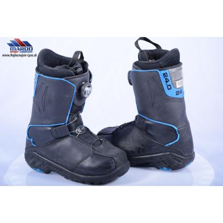 snowboardove topanky ATOMIC AIA, BLACK/blue, COILER system, BOA technology