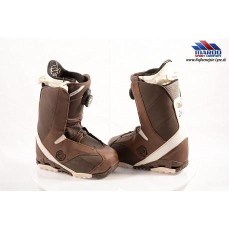 snowboardové topánky ATOMIC WAIVER BOA brown, TEAM FOAM liner ( TOP stav )