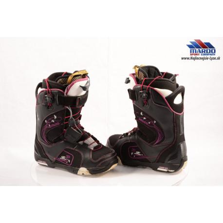 dámske snowboardové topánky DEELUXE ID LARA, SCL system, CUSSION ZONE, C-FLEX, BLACK/purple ( TOP stav )