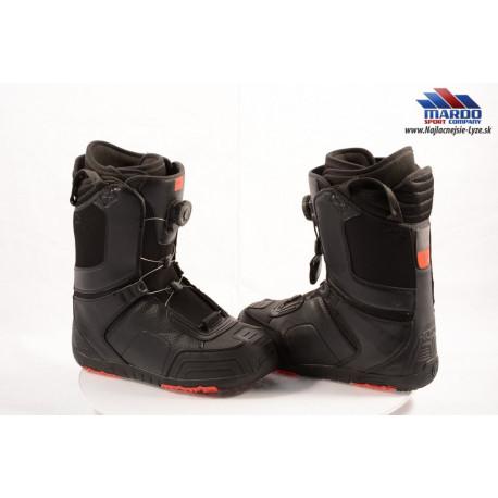 snowboardové topánky FLOW ANSR BOA, BOA technology, Black/red