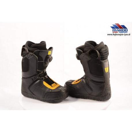 snowboardové topánky FLOW ANSR BOA black/leather, BOA technology, Black/yellow ( TOP stav )