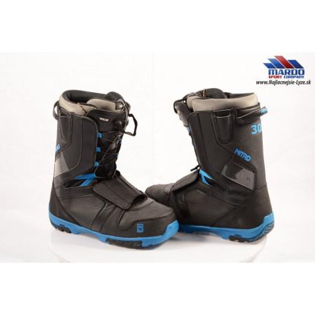 snowboardové topánky NITRO TEAM TLS 2018, Black/blue